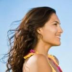 Beachy waves long hair