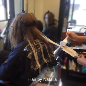 Balayage hair painting. Hair salon Denver. Best Hairstylist Denver
