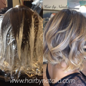 Balayage hair painting denver