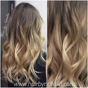 Balayage ombre somber hair