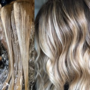 Balayage highlights Denver
