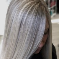 Icy blonde highlights. Cool blonde hair color