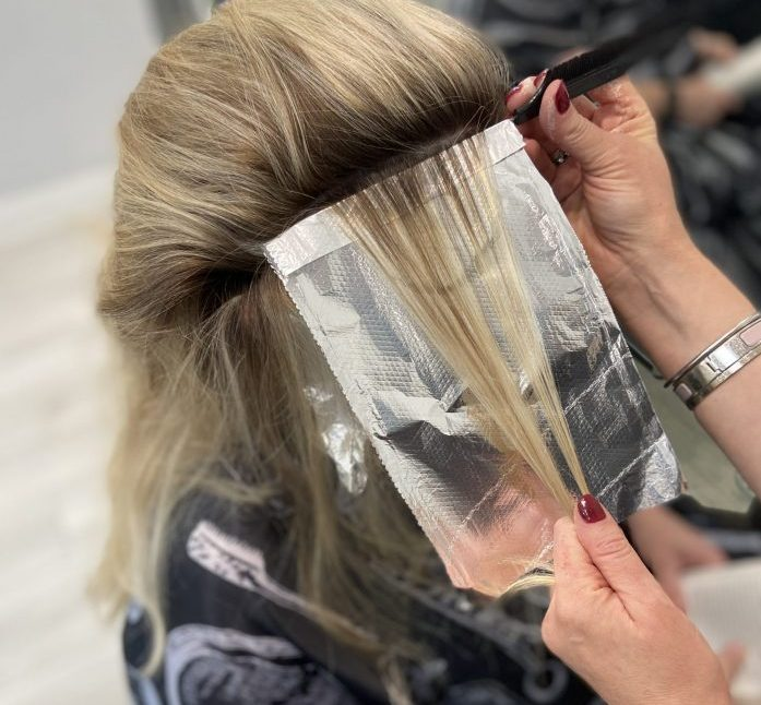 Babylights blonde highlights. Hair salon in Cherry Creek Denver