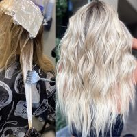 Balayage and highlights in Denver hair salon